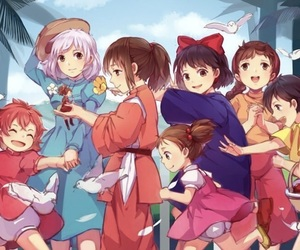 Castle in the Sky, ponyo, and ghibli image