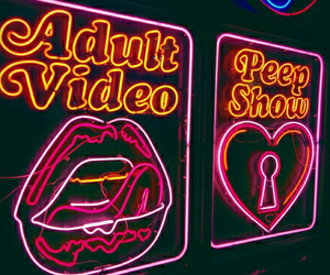 neon, post, and text image