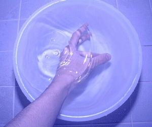water, aesthetic, and hand image