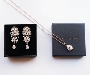 earrings, necklace, and jewelry image