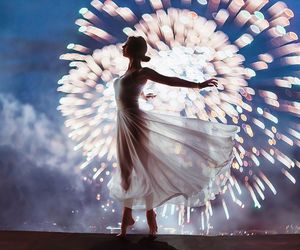 fireworks, dance, and light image