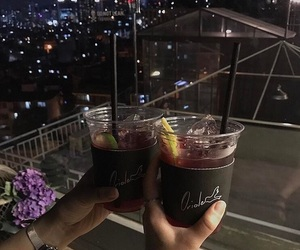 aesthetic, chilling, and drink image