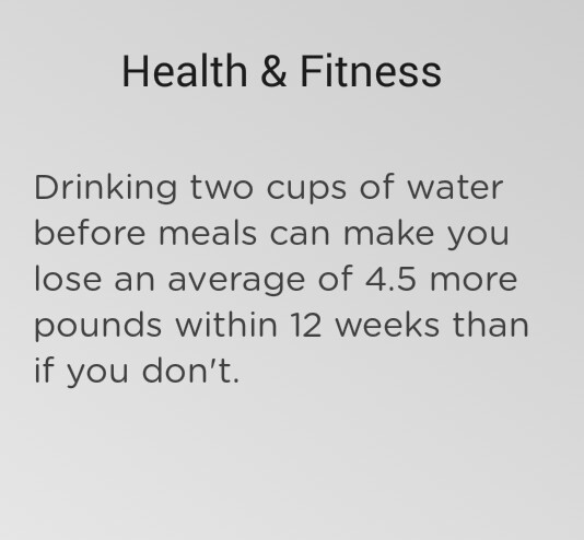 health, meal, and water image