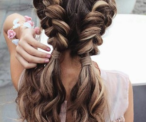 hair style, hairs, and blonde hairs image