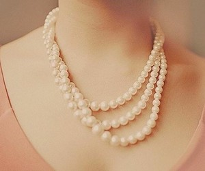 pearls, necklace, and pink image