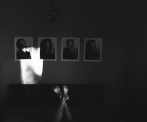 art, b&w, and shadow image