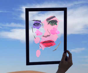 etsy, modern art, and watercolor art image