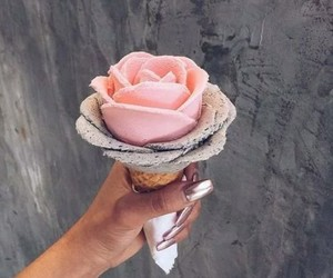 ice cream, pink, and pretty image