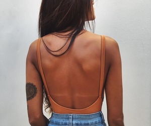 style, tattoo, and denim image