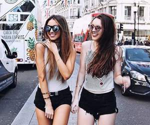 girl, bff, and friendship image