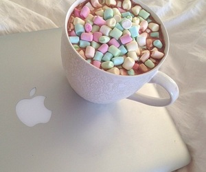 apple, food, and marshmallow image