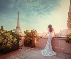 bridal, dress, and paris image