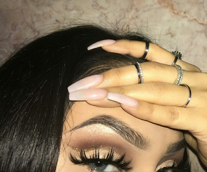 eyes, makeup, and postbad image