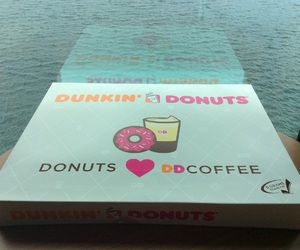 chocolate, donuts, and dunkin donuts image