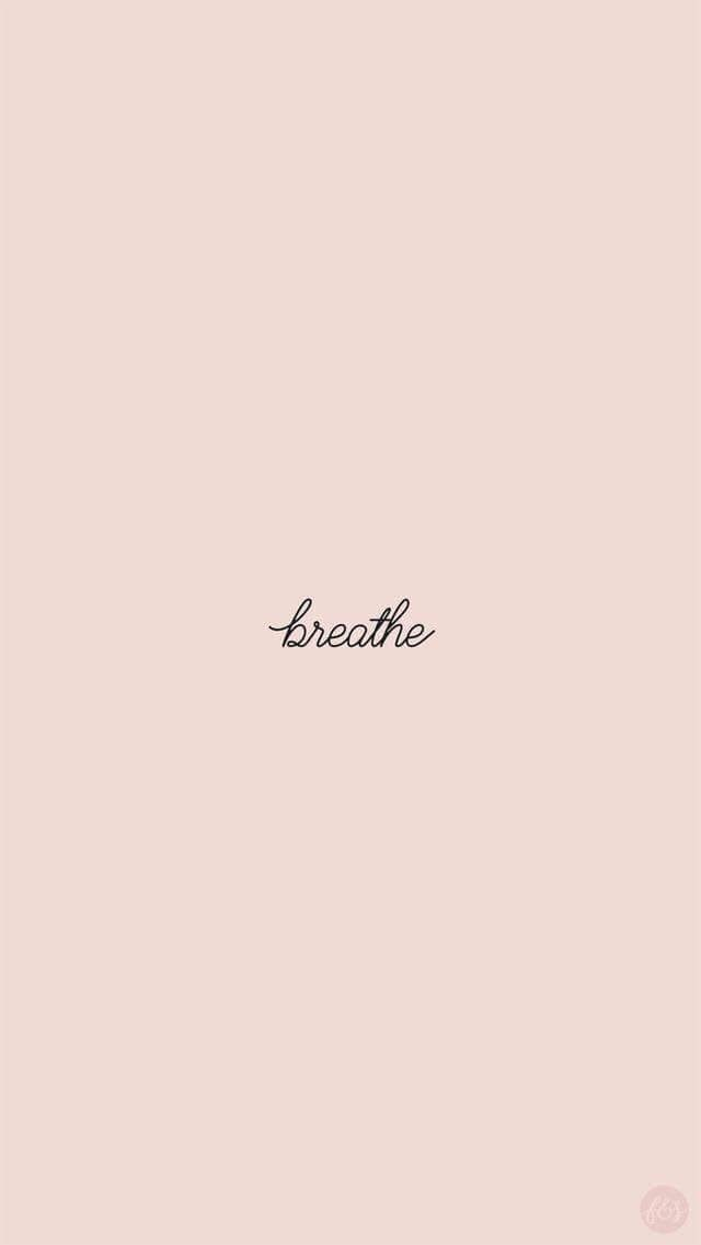 Wallpaper Quotes Quote Breathe Wallpapers Pink Summer
