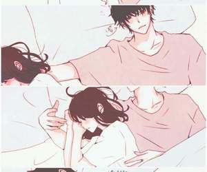 sleep, cute, and couple image