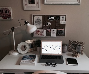 college, desk, and study image