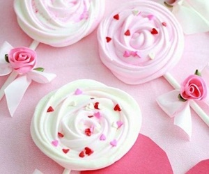 pink, sweet, and lollipop image