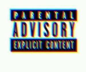 parental, advisory, and black image