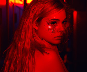 red, Elle Fanning, and aesthetic image