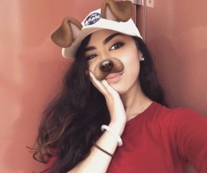 girl, cute, and dog filter image