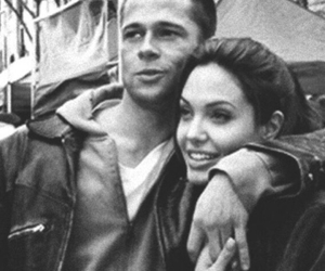 brad pitt, couple, and Angelina Jolie image