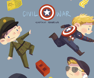 captain america, wallpaper, and Marvel image
