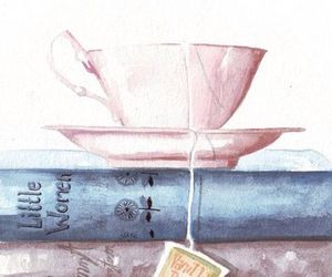 books, calm, and paint image