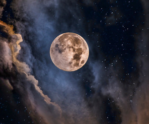 full moon, luna, and Noche image