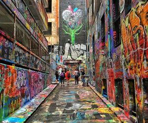 paint, road, and street image