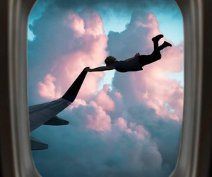 air plane, fly, and peter pan image
