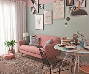 decoration, home sweet home, and pink image