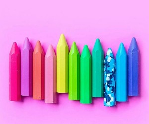 colors, colorful, and crayons image