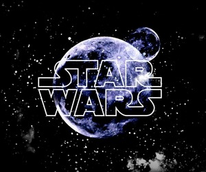edit, moon, and star wars image