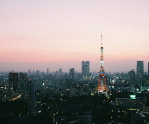 city, photography, and tokyo image