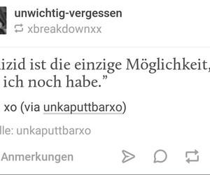 sad, traurigkeit, and deutsch image