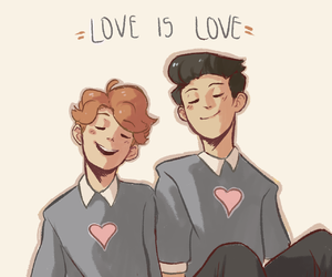 love is love and in a heartbeat image