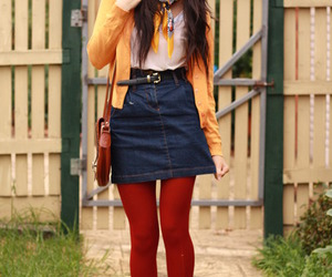 blue, outfit, and street style image