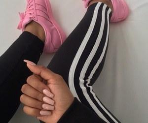 adidas, nail art, and nails image