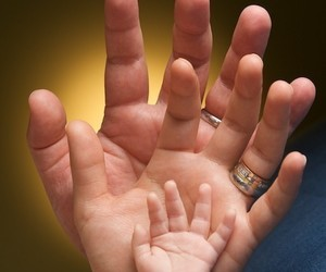 family, baby, and hands image
