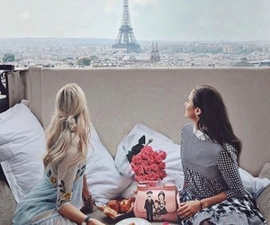 paris, fashion, and breakfast image