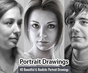 art, drawings, and portrait drawing image
