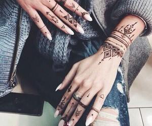 tattoo, nails, and henna image
