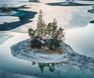 aesthetic, cabin, and nature image
