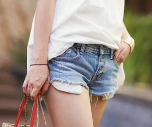 style, fshion, and ragged shorts image