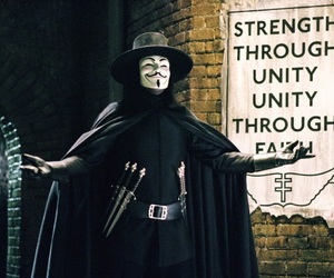 v for vendetta, v, and movie image