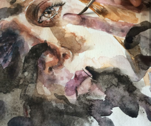 aesthetic, painting, and watercolor image