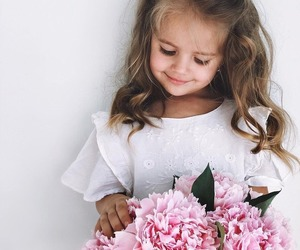 flowers, girl, and child image