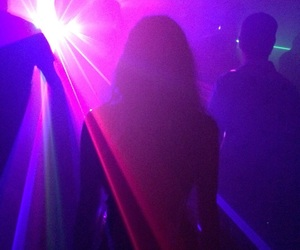 purple, girl, and lights image
