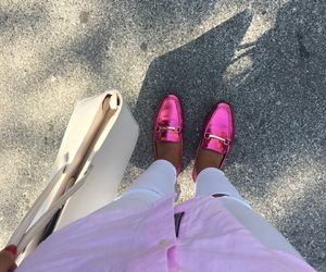 pink, shoes, and instagram image